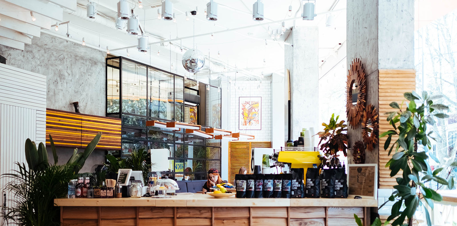 modern small business coffee shop